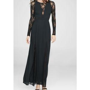 Express long lace dress